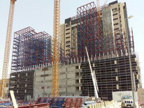 Erection of Fabricated & Painted Structural Steel for Car Park Building - Jahara